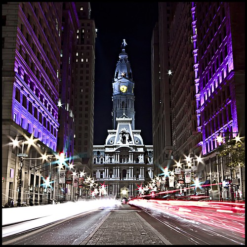 cars philadelphia night lights traffic pennsylvania cityhall 1022mm broadstreet avenueofthearts southbroad platinumheartaward
