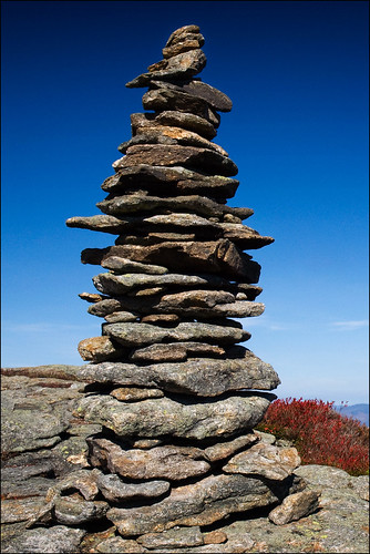 blue mountain tower fall rocks newhampshire whitemountains stack trail pile granite marker cairn baldface northbaldface