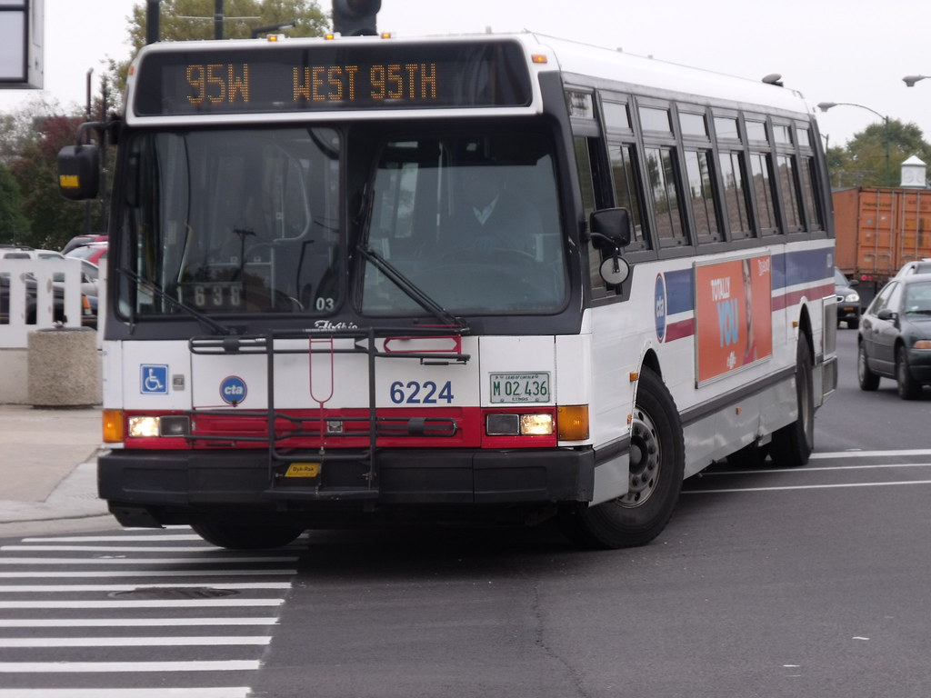 Route #95W To 95th/Red Line | CTA Bus 6224, A Flxible Metro
