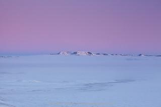 Misty winter sunrise in Grasslands NP, Saskatchewan   by Branimir Gjetvaj