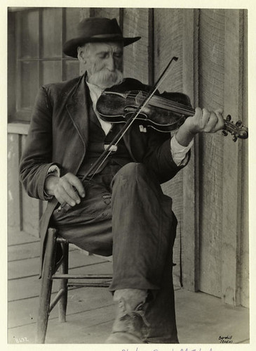 A mountain fiddler. | by New York Public Library