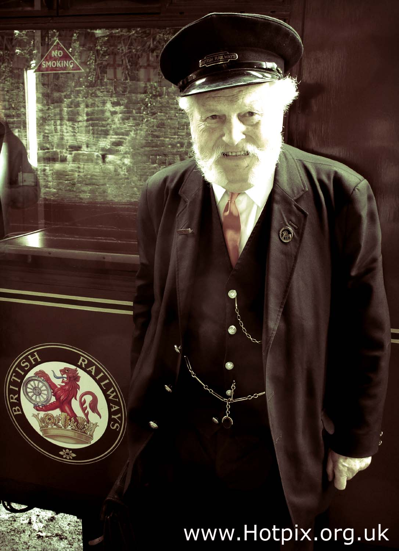 tony,smith,train,man,worker,employee,british,rail,railway,railways,BR,cap,beard,ELR,way,east,lancs,lancashire,england,english,heritage,europe,europ,pocket,watch,time,travel,photo