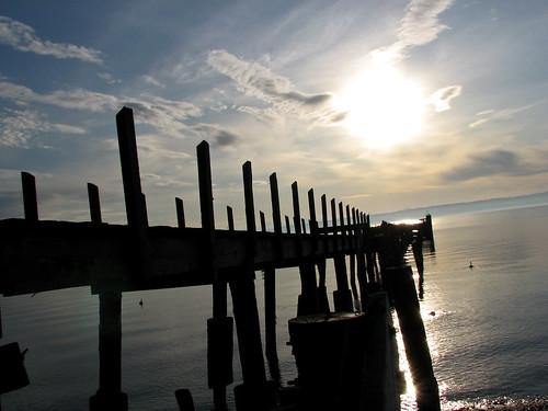 sunrise dock washingtonstate admiraltyinlet grundlepuck marrowstoneisland fortflaglerstatepark