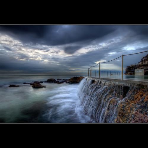 blue beach pool photoshop sunrise cs2 cloudy australia nsw tidepool hdr bronte conctete brontebeach 3xp photomatix sigma1020 abigfave canon400d newsouthwals brontetidepool