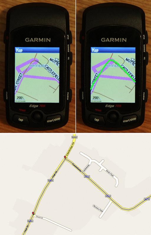 Garmin route error - small