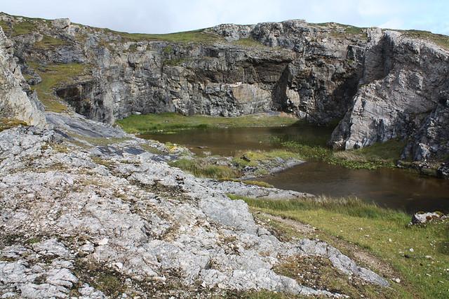 Limestone quarry behind the limestone kilns, Ard Neakie, L