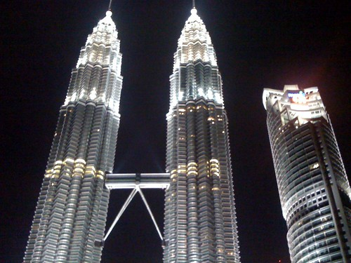 The Petronas Twin Towers at night | by Ania Mendrek
