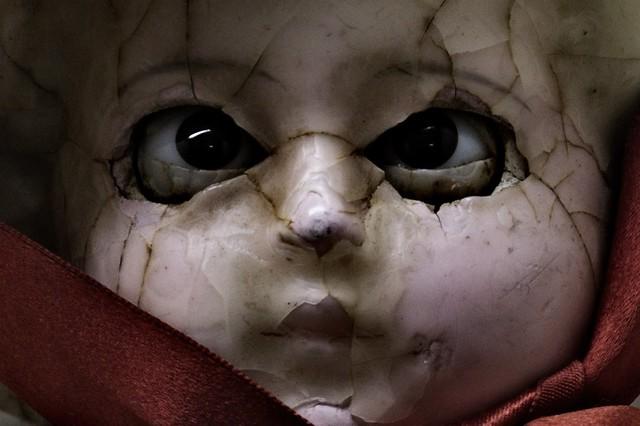 Porcelain doll close-up
