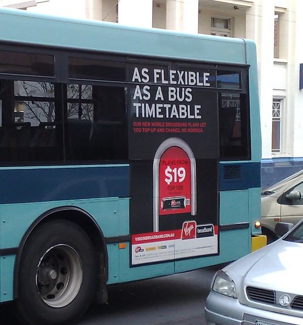Advert on bus