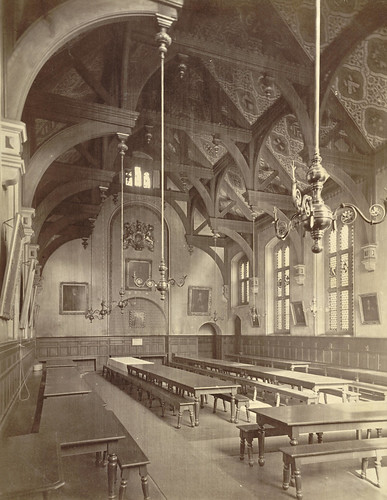 Cambridge. Gonville And Caius College, Dining Hall (Interi
