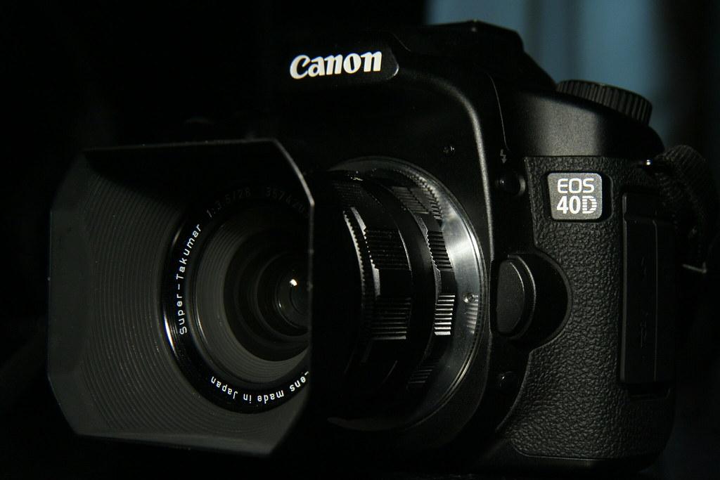 Canon EOS 40D + Super Takumar 28mm f3 5 via M42 Adapter (w