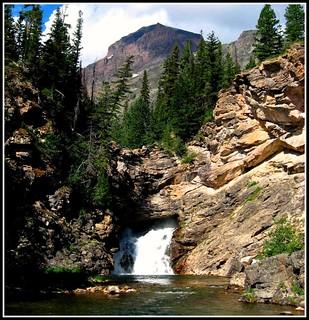 Running Eagle Falls, Glacier National Park, Montana, Rocky Mountains