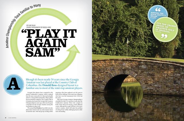 Golf Georgia Editorial Design