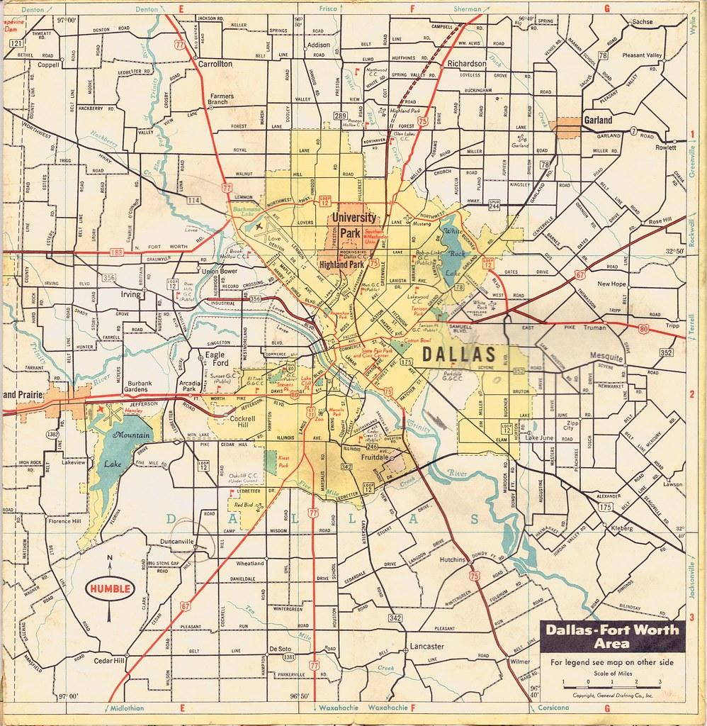 road map of dallas Dallas Map Undated Old Road Map Of Dallas Click On All Si Flickr road map of dallas