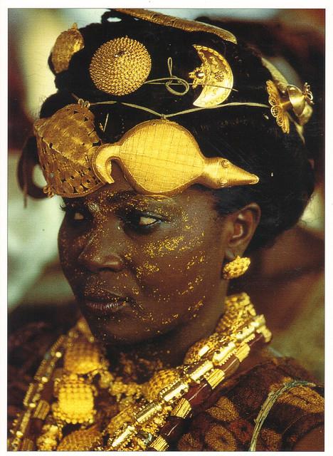 Adioukrou African Queen Mother Postcard