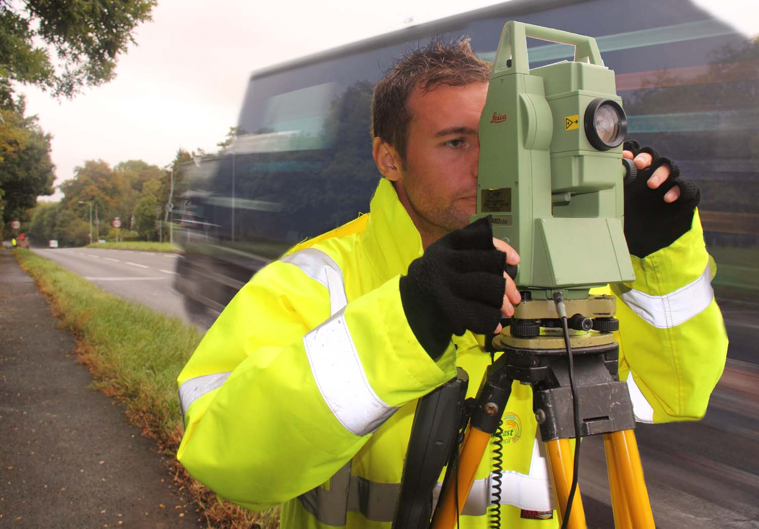 Cheshire,West,Chester,Local,authority,Council,Road,Surveyor,using,Leica,803,Ultra,A556,Peover,UK,England,yellow,jacket,surveying,CWAC,local authority,MBC,at work,work,working,workers,worker,busy,person,people,professional,qualified,face,head,faces,operative,expert,ARICS,ARIC,365days,tonysmith,tony,smith,HOT PIX,tony smith photography,tdktony,tdk,tdktonysmith