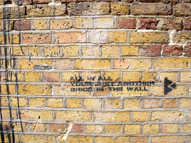 All in all your just another brick in the wall