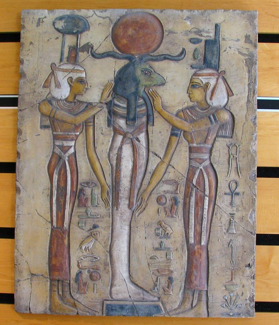 Nephthys and Isis prepare Ra in Mummification
