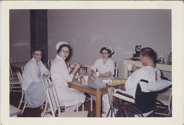 My Grandmother Hazel Fattu at work as Nurse