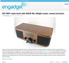 Wifi Radio project on Engadget! | by mightyohm