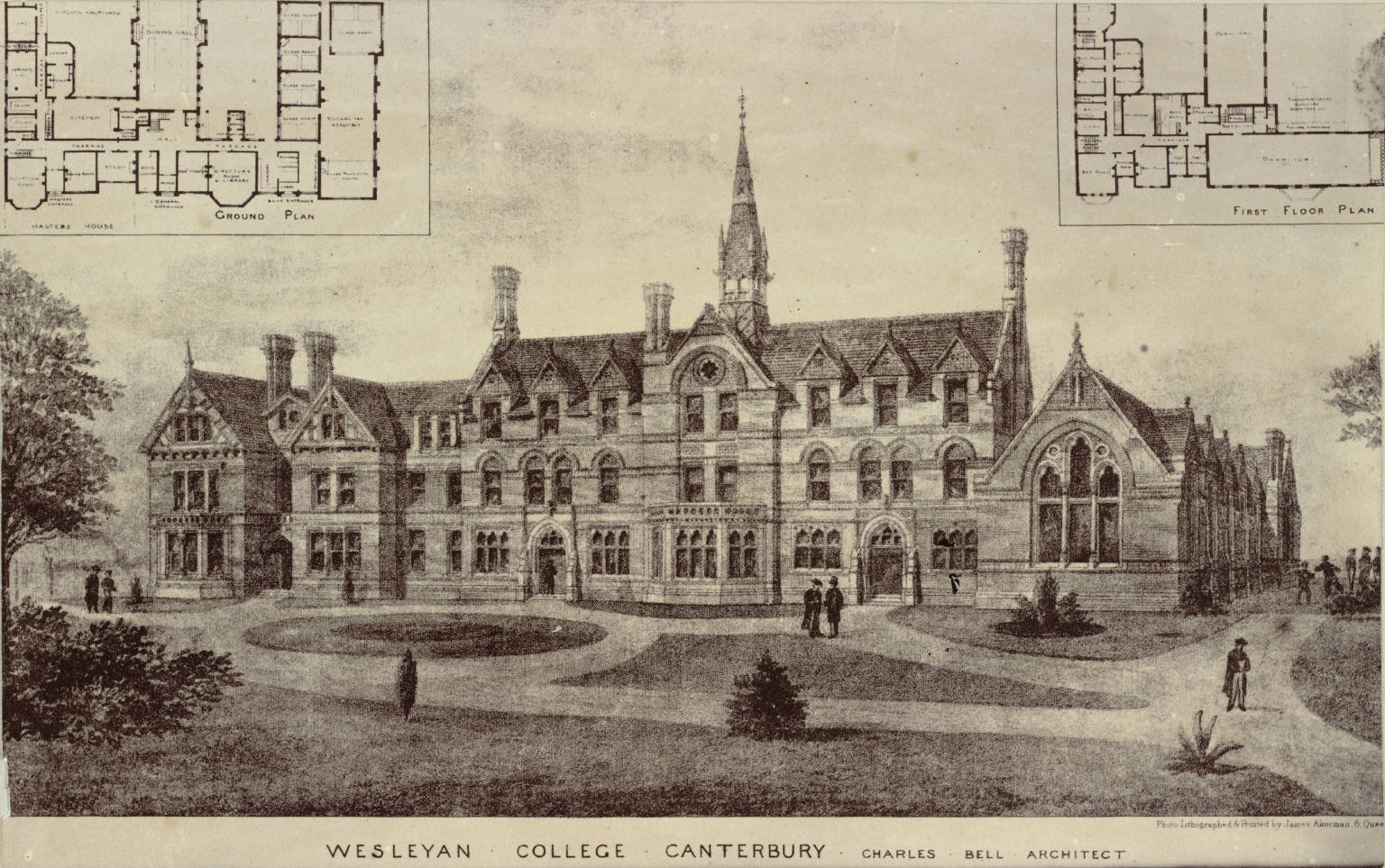 Plan for Wesleyan College, Canterbury