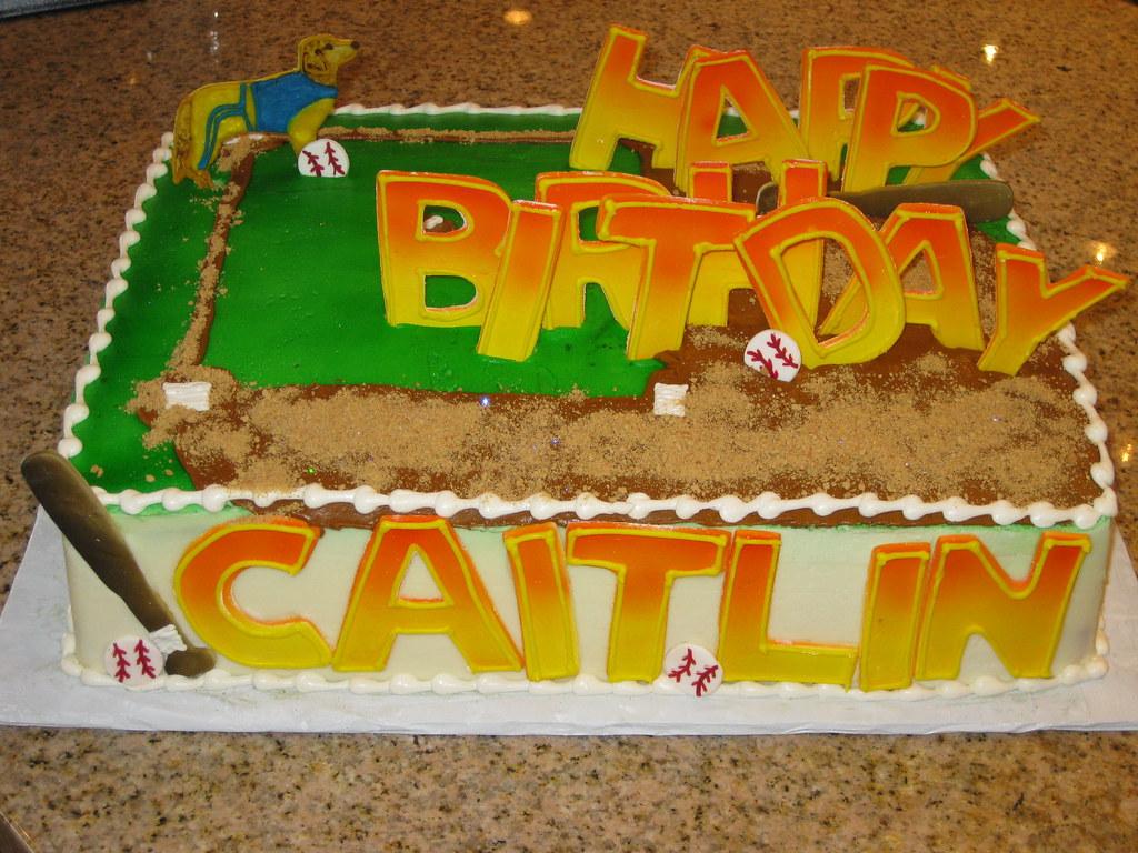 Stupendous Baseball Themed Birthday Cake The Sugar Me Bakery Flickr Funny Birthday Cards Online Fluifree Goldxyz