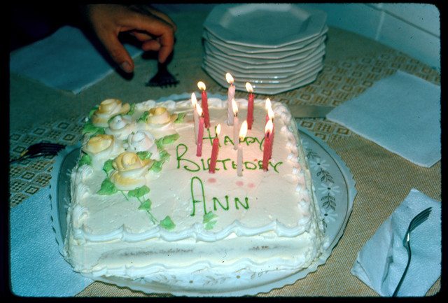 Happy Birtday Ann - Birthday Cake
