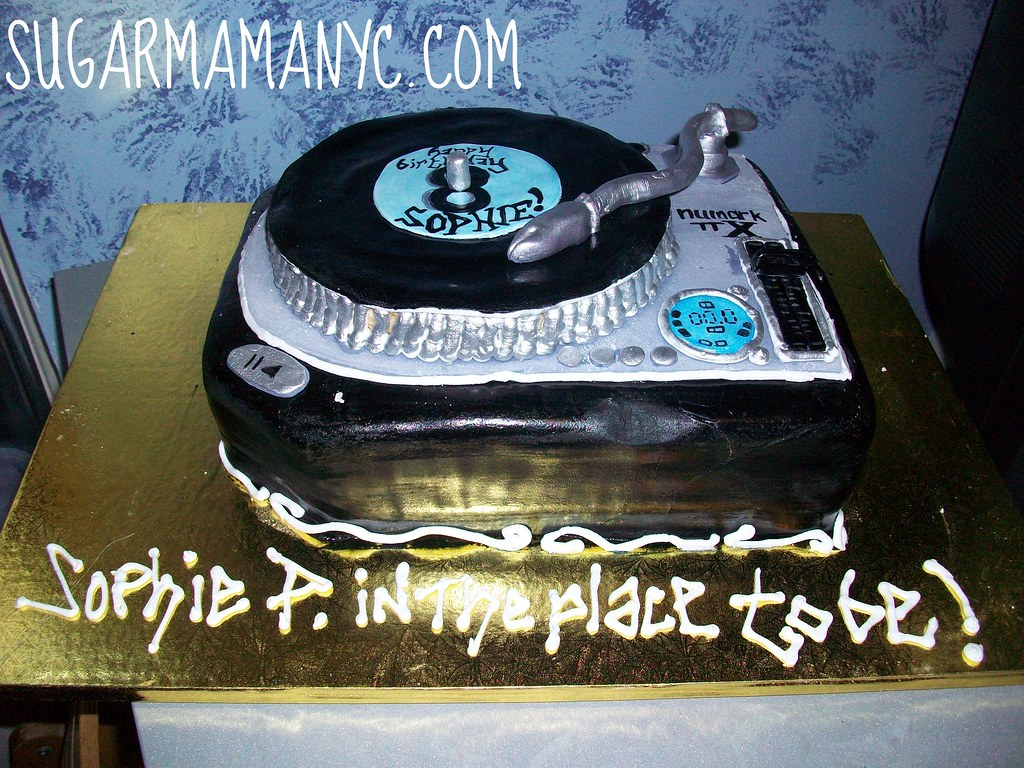 Superb Dj Turntable Cake A Photo On Flickriver Birthday Cards Printable Benkemecafe Filternl