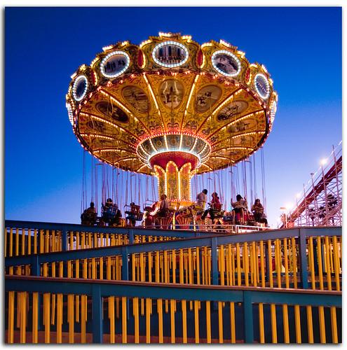 california blue sunset summer santacruz color cali square fun nikon sigma boardwalk amusementpark rides d300