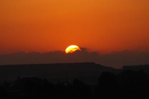 sunset sun cyprus august idalion