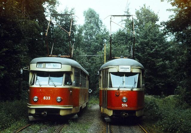 Tramvaje Tatra T2 a T1 Ostrava