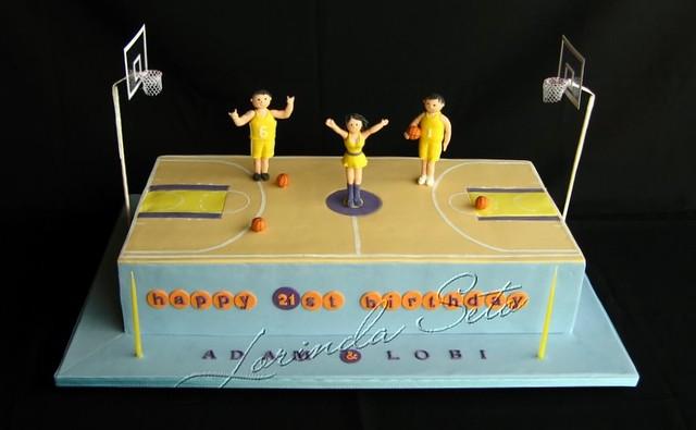 Astounding Basketball Court 21St Birthday Cake 21St Birthday Cake For Flickr Funny Birthday Cards Online Kookostrdamsfinfo