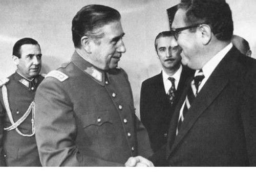 kissinger w pinochet from the movie 'Condor', From CreativeCommonsPhoto