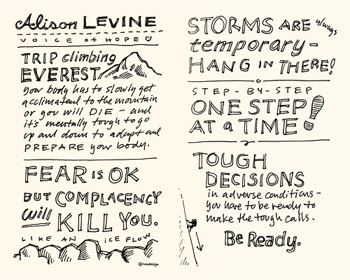 Chick-Fil-A Leadercast Sketchnotes 25-26 - Alison Levine | by Mike Rohde