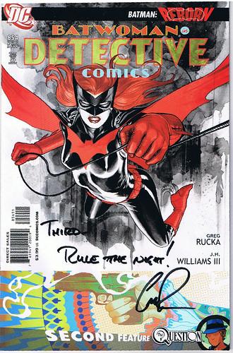 Batwoman autographed