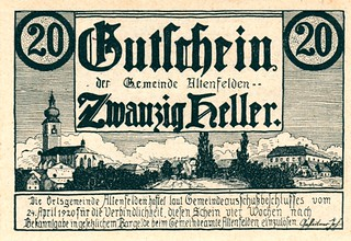 Altenfelden, 20 heller, 1920