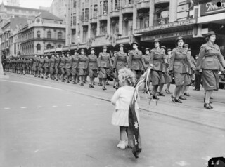 A child watches the march, 1942