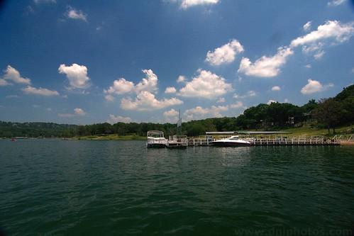 sky lake water clouds missouri boating ozarks tablerock