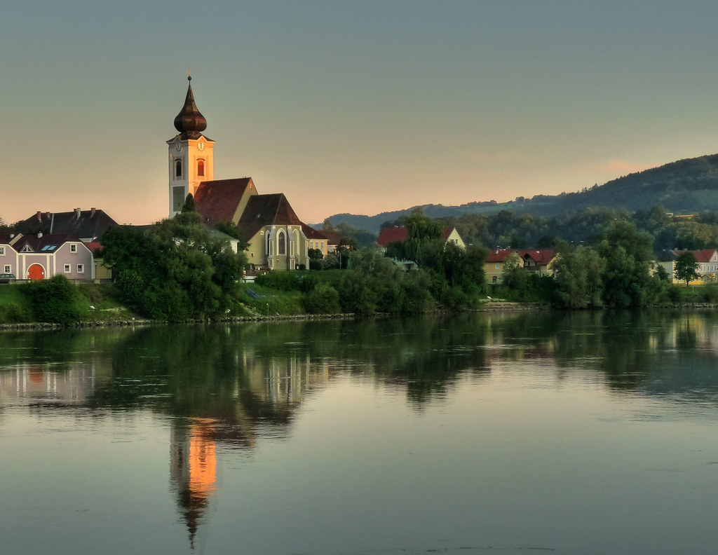 Danube Clock Reflection