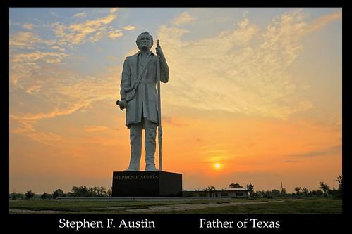 history statue sunrise highway texas tx 288 davidadickes angleton stephenfaustin fatheroftexas