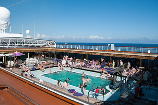 The Main Pool Lido Deck - the roof is retracted | by Donnay