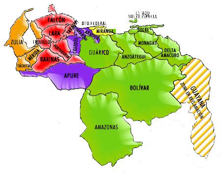 Venezuela Mapa Politico Mapa Politico De Venezuela Flickr