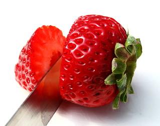 cut strawberry   by Muffet