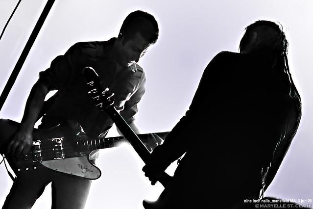 Justin Meldal-Johnsen & Robin Finck   Nine Inch Nails @ Mansfield MA 6/3/09