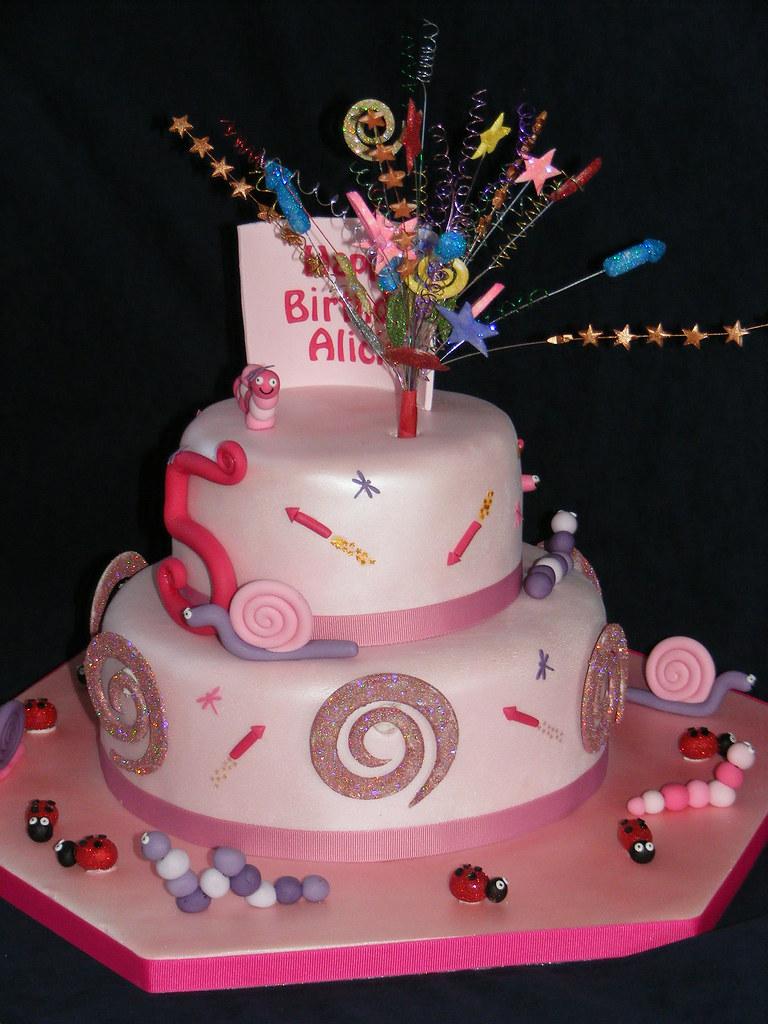 Outstanding Fireworks Birthday Cake Vanilla Sponge Filled With Raspber Flickr Funny Birthday Cards Online Bapapcheapnameinfo