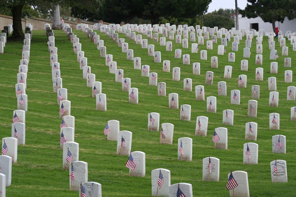 Memorial Day Flags - Rosecrans National Cemetery