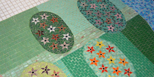 "bathroom floor ""mosaic floor"" 
