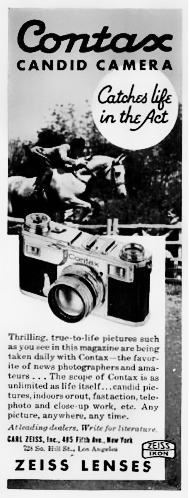 Contax Candid Camera Advertisement From 1936