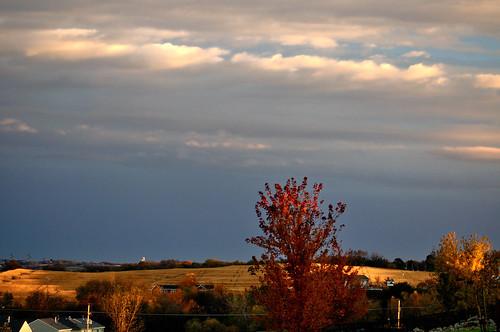 sky clouds landscape evening farm farmland fields nikon105mm nikkor105mmf28gvrmicro perfectsunsetssunrisesandskys nikond5000