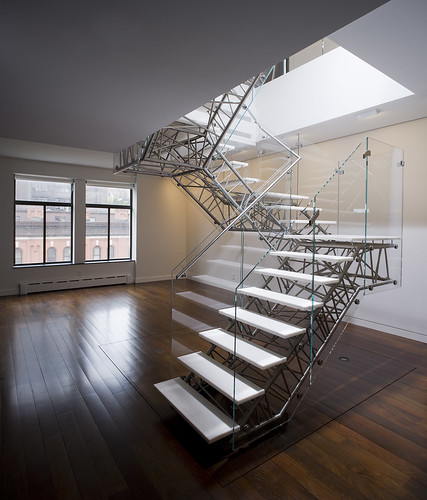 Caliper Studio Genetic Stair: Designed, Fabricated And Installed By